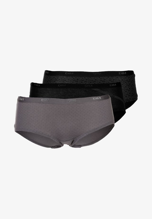 POCKETS BOXER 3 PACK - Slip - black