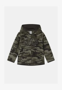 GAP - HOOD - Fleecejas - black moss - 0