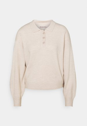 POLO NECKLINE JUMPER - Strikkegenser - grey