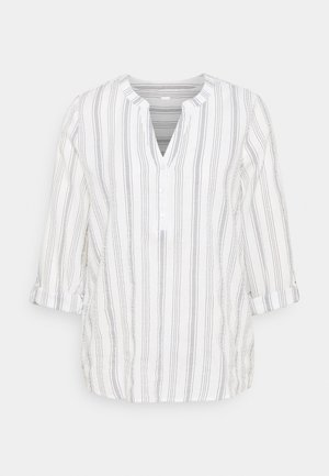 STRIPED TUNIC - Blouse - white/blue