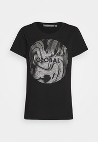 b.young - BXSEMONE TURN UP - Print T-shirt - black - 4