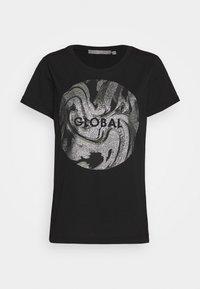 b.young - BXSEMONE TURN UP - T-shirts med print - black - 4
