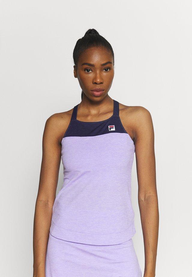 MELLY - Top - purple melange