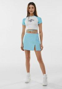 Bershka - A-line skirt - blue - 1
