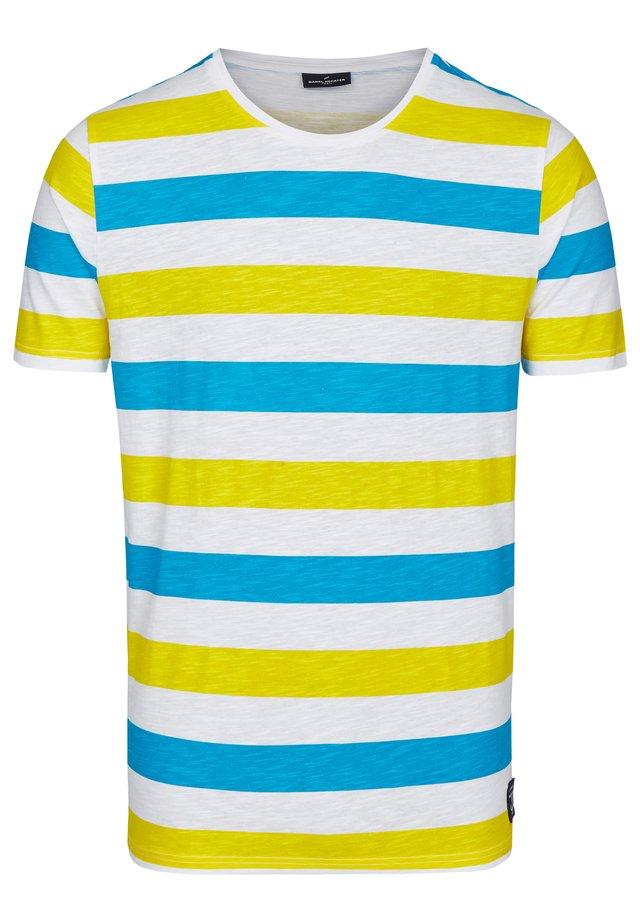 SLUB-GARN  - Print T-shirt - blau