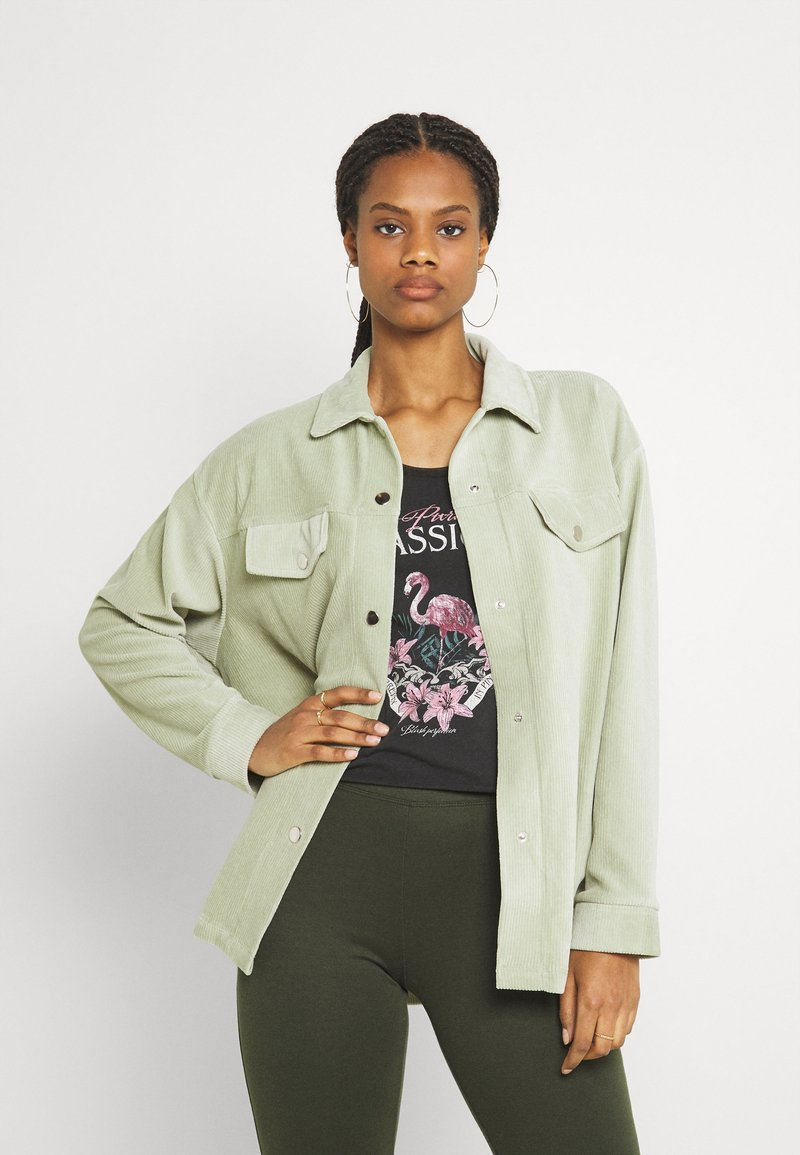 Nly by Nelly - OVERSIZED SHACKET - Blouse - pistachio