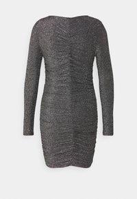 Vero Moda Petite - VMJOSEPHINE SHORT DRESS - Jersey dress - black/silver - 1