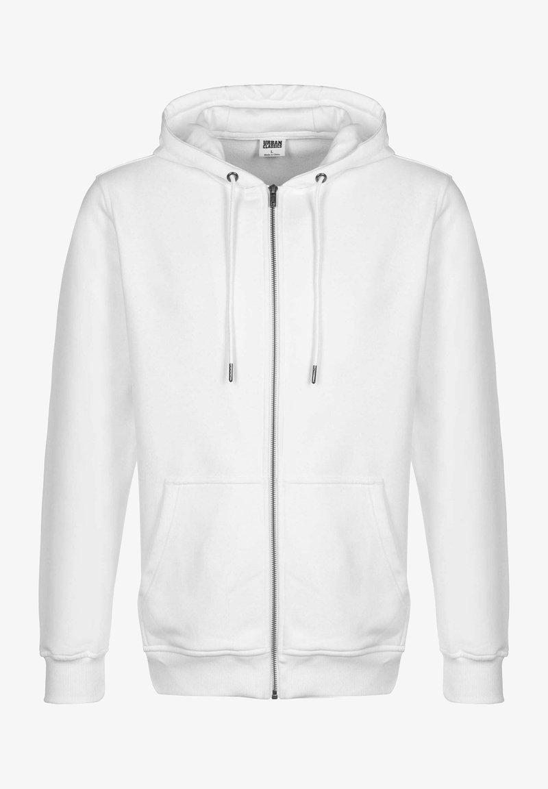 Urban Classics - TERRY - Zip-up sweatshirt - white