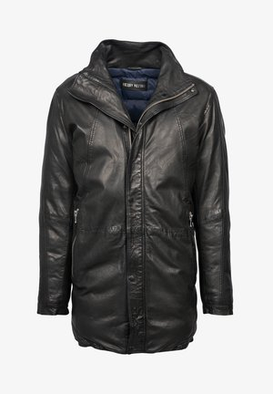 LONG PORTAGE CREEK-FN - Leather jacket - black