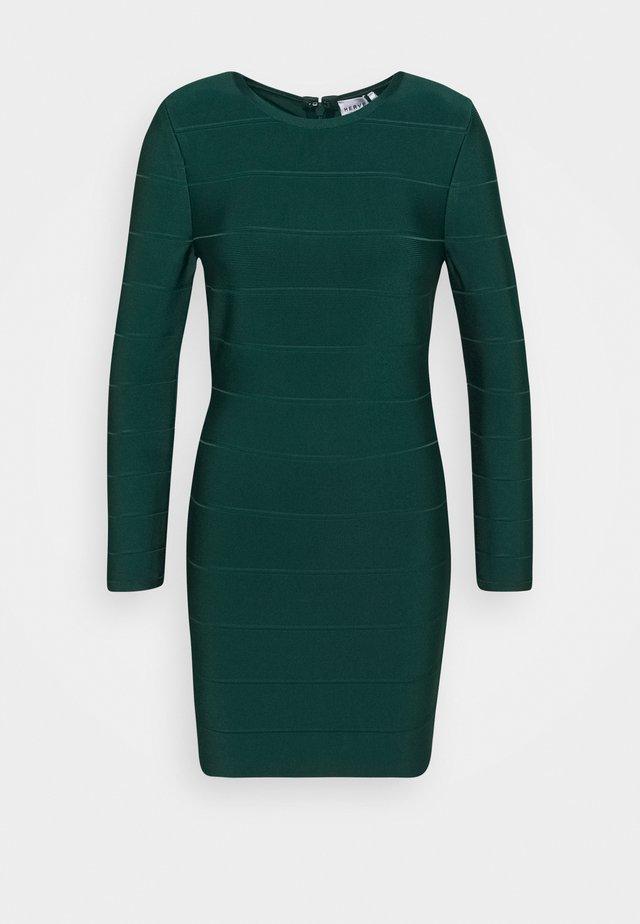 ICON LONG SLEEVE DRESS - Robe fourreau - evergreen