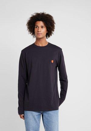 DAVID - T-shirt à manches longues - dark navy/orange teddy