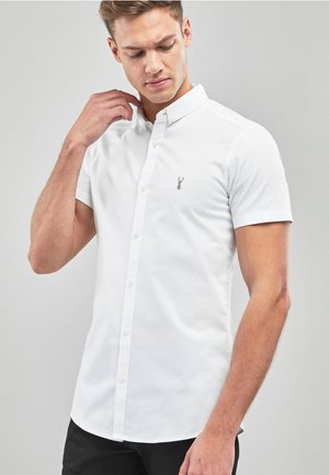SKINNY FIT SHORT SLEEVE STRETCH OXFORD SHIRT - Camicia - white