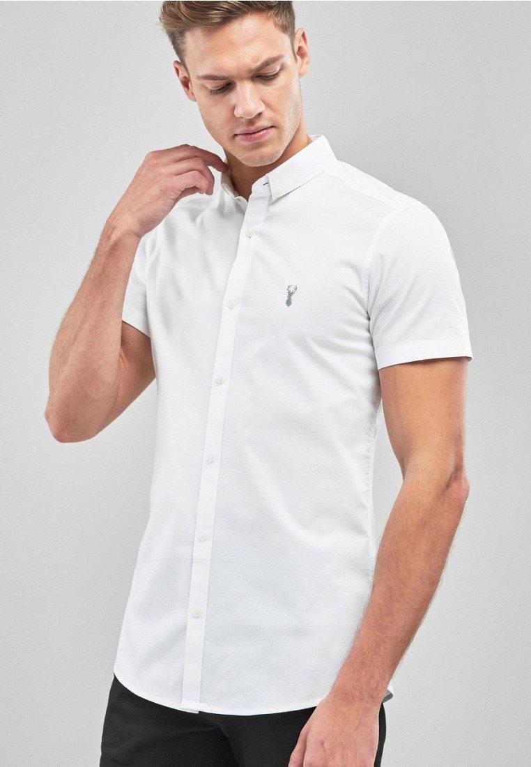 Next - SKINNY FIT SHORT SLEEVE STRETCH OXFORD SHIRT - Shirt - white