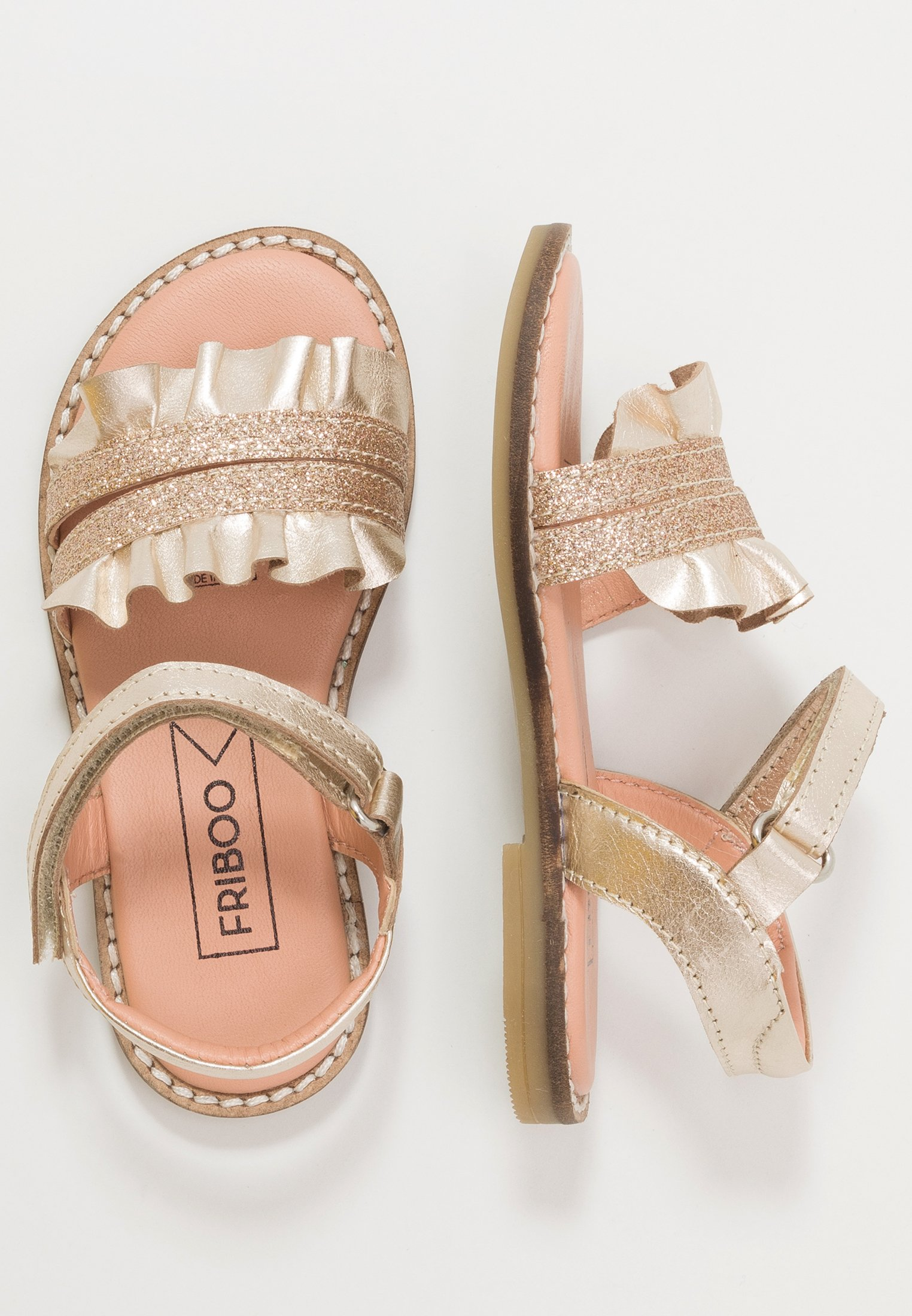 Kids LEATHER - Sandals - gold