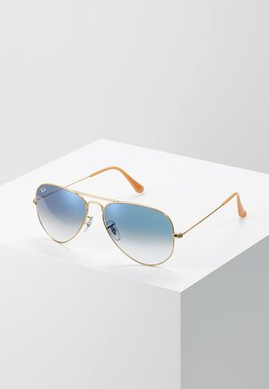 AVIATOR - Sonnenbrille - gold crystal gradient light blue