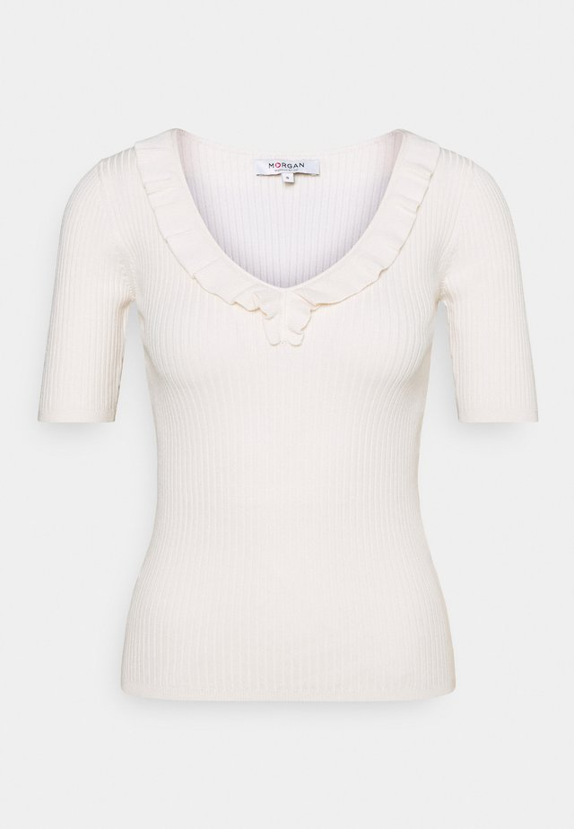 MVOLA V-NECK - T-Shirt basic - offwhite