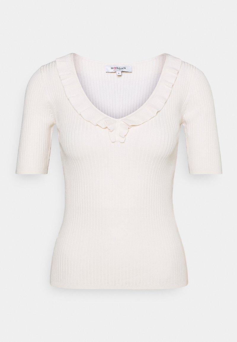 Morgan - MVOLA V-NECK - Basic T-shirt - offwhite