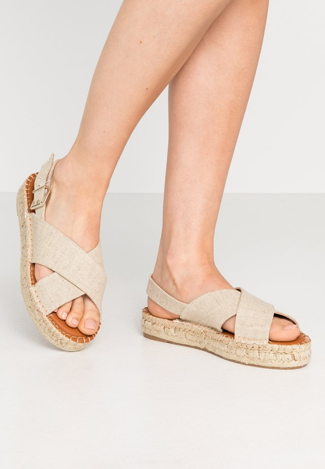 CROSSED  - Loafers - beige