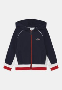 Lacoste Sport - OLYMP TRACK UNISEX - Zip-up hoodie - navy blue/white/red - 0