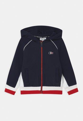 OLYMP TRACK UNISEX - Sweat à capuche zippé - navy blue/white/red