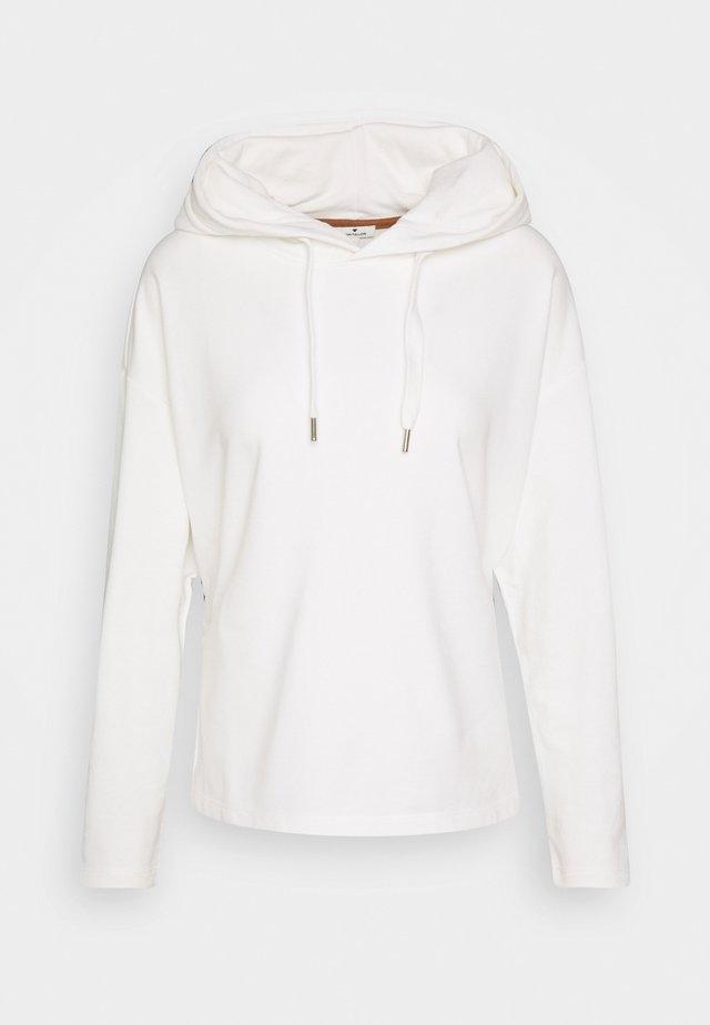 Jersey con capucha - whisper white