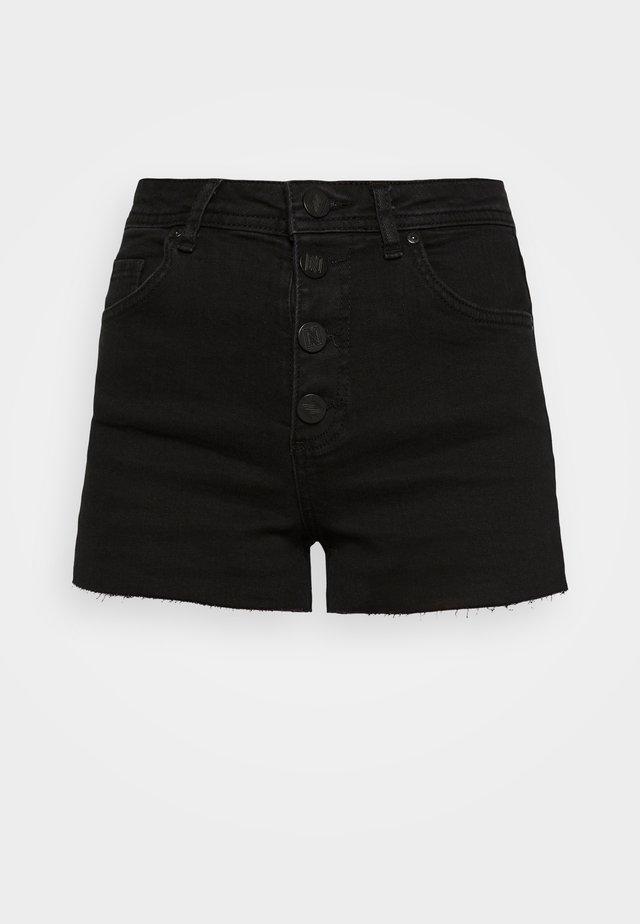 CATO SOLID - Shorts di jeans - black
