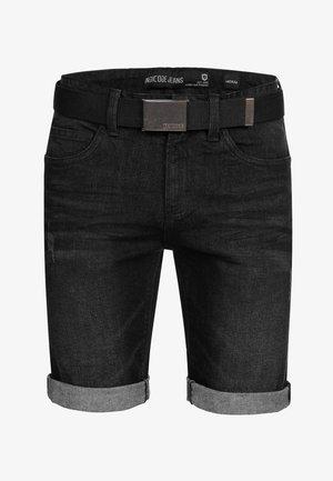 CUBA - Denim shorts - black