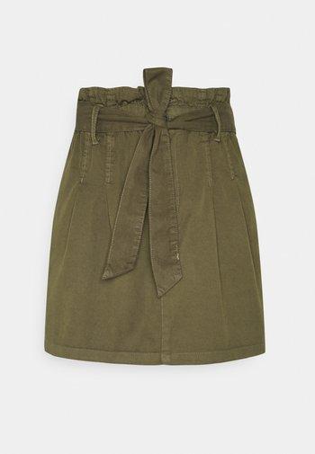 ONLPIPI LIFE PAPERBAG BELT SKIRT - Mini skirt - kalamata
