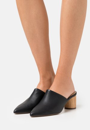 MADILYNN - Heeled mules - black