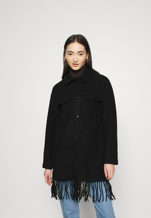 ONLERIKA CARO FRINGE SHACKET  - Classic coat - black