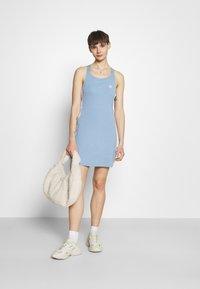 adidas Originals - RACER DRESS - Jersey dress - ambient sky - 1
