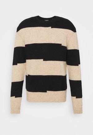 Pullover - black beige