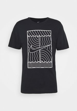 TEE COURT  - Print T-shirt - black/white