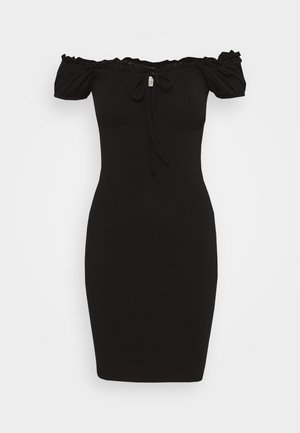 MY FRILL DRESS - Jersey dress - black