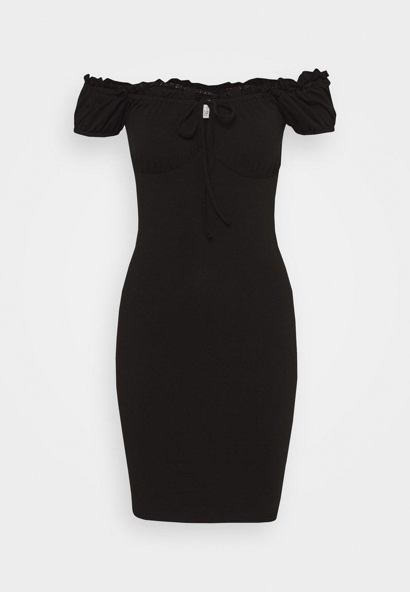 Nly by Nelly - MY FRILL DRESS - Jersey dress - black