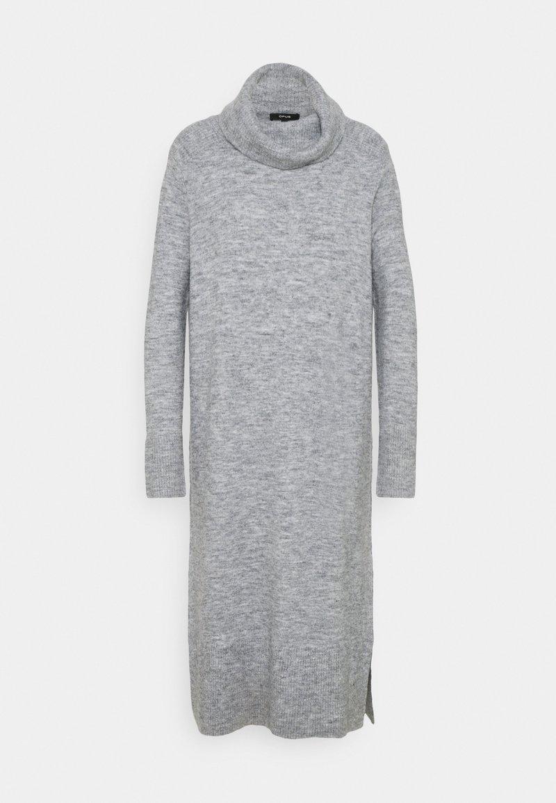 Opus - WEFI - Strikket kjole - hazy fog melange