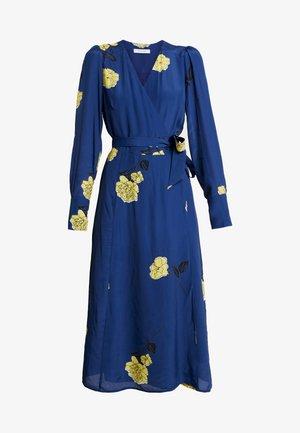 WRAP DRESS MIDI - Day dress - blue