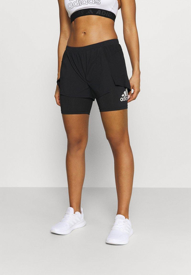 adidas Performance - Pantalón corto de deporte - black
