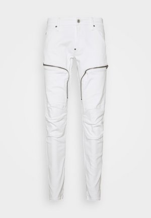 AIR DEFENCE ZIP SKINNY - Jeans Skinny - elto white superstretch - white