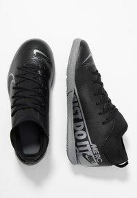 Nike Performance - MERCURIAL 7 CLUB IC - Indoor football boots - black/metallic cool grey/cool grey - 0