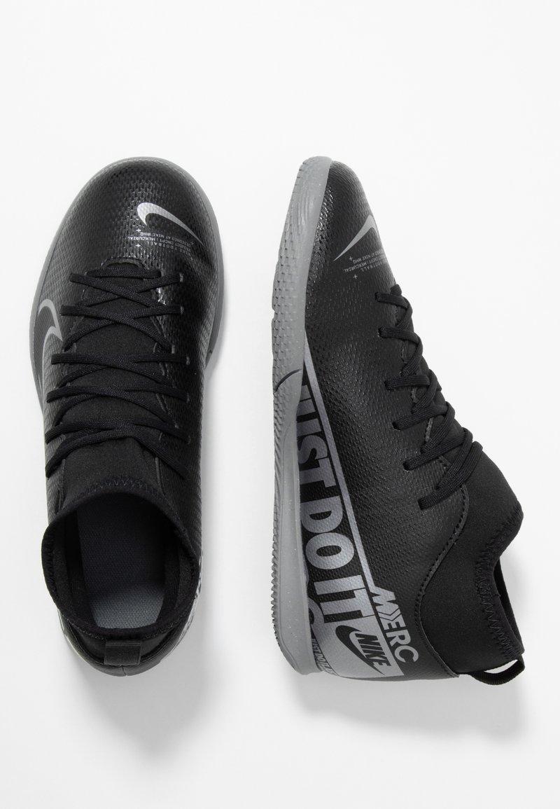 Nike Performance - MERCURIAL 7 CLUB IC - Indoor football boots - black/metallic cool grey/cool grey