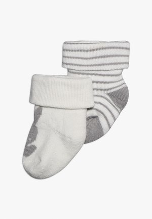 NEWBORN WELCOME BABY 2 PACK - Socks - latte/silber