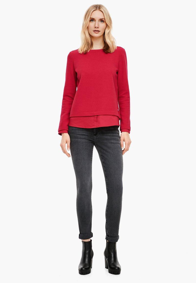 s.Oliver Sweatshirt - dark red/dunkelrot 2WFMDS