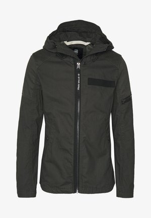 BATT HOODED - Summer jacket - raven
