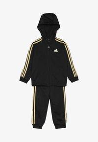adidas Performance - SHINY  - Tracksuit - black/gold - 5