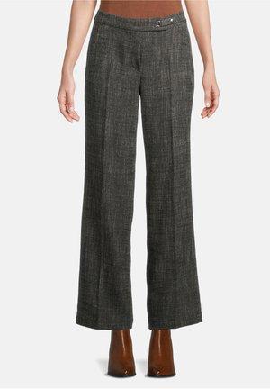 Pantalon classique - schwarz/weiß