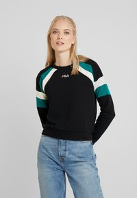 Fila Tall - EIBHLEANN CREW - Bluza - black/whitecap gray/everglade - 0