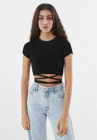 Bershka - T-Shirt print - black - 0
