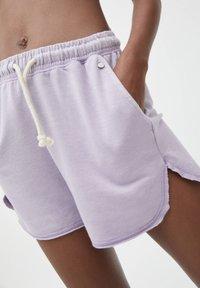PULL&BEAR - Shorts - mottled dark purple - 3