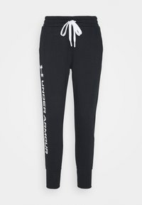 Under Armour - RIVAL SHINE JOGGER - Tracksuit bottoms - black - 4